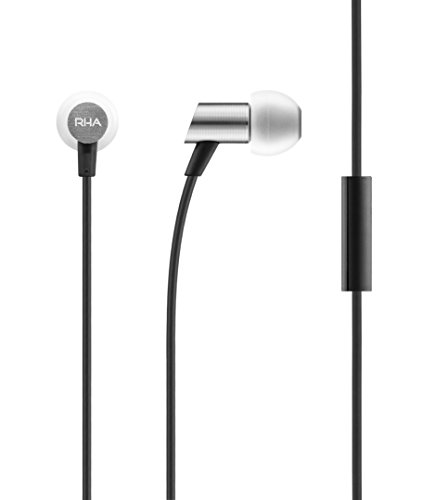 RHA S500 Universal Earphones: Compact Aluminium Noise Isolating In-Ear Headphones with Remote & Mic, 3 Year Warranty Included