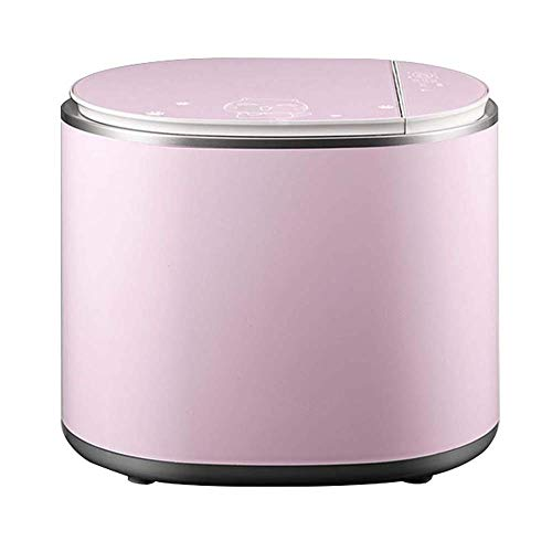 LYYJIAJU Mini Portable Washing Machine Full Automatic High Temperature Cooking and Sterilizing Children's Underwear Small Household Laundry Artifact (Color : Pink)