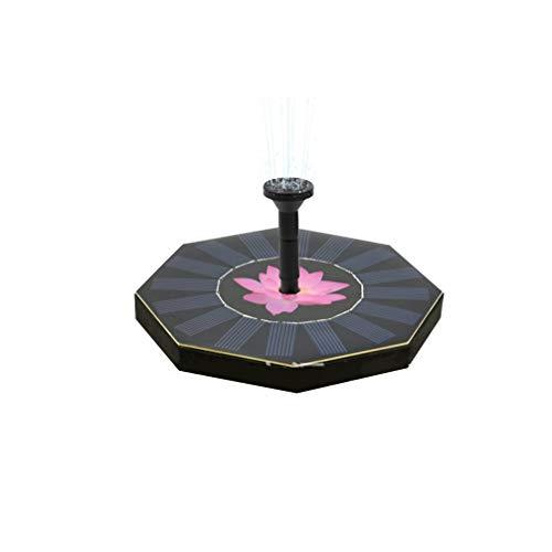 UPKOCH Solar Wasserpumpe Schwimmende Lotus Brunnen Vogel Bad Brunnen Pumpe Seerose Ornamente für Gartenterrasse Aquarium Teich Dekoration