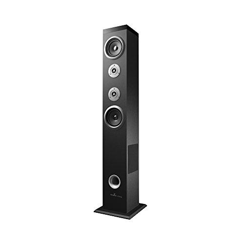 Energy Sistem Tower 5 AT - Sistema de sonido Bluetooth (60 W, Touch panel, USB/SD y FM), color negro y plata