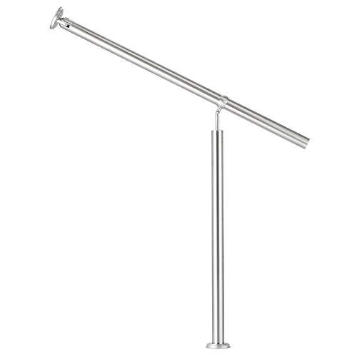 Sfeomi Barandilla de Acero Inoxidable 100 x 90 cm Pasamanos de Escalera para Uso en Interiores y Exteriores con Accesorios de Pared y Tapones Metálicos (100 x 90 cm)