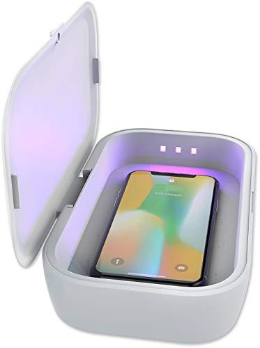 4smarts MyGuard Universal UV Desinfektionsgerät und Wireless Charger mit 10 W, passend für Smartphones bis zu 17,02 cm (6,7 Zoll)
