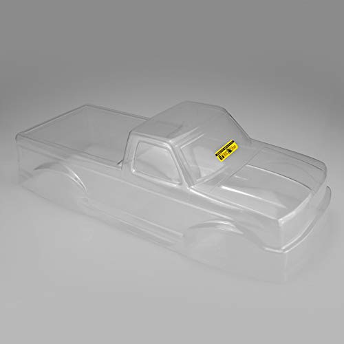 J Concepts 0303 1993 Ford F-250 Monster Truck Clear Body with Racerback & Visor