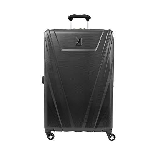 Travelpro Maxlite 5 Maleta de Facturación 4 Ruedas 69x44x29 cm Rígida, Ultraligera, Expansible y Resistente con Candado TSA 89 litros Equipaje de Viaje Grande Avión Garantía 5 Años (Negro, L)