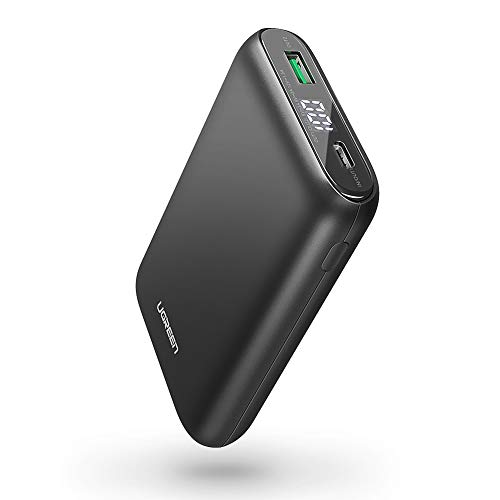 UGREEN Portable Charger 10000mAh PD 18W USB C Power Bank Power Delivery 3.0 Battery Pack QC 3.0 Fast Charge with LED for iPhone 11 Pro Max, XR XS Max X 8, iPad, Nintendo Switch, Samsung, LG, Phones