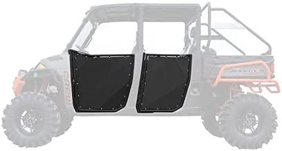 SuperATV Aluminum Half Doors for 2013+ Polaris Ranger XP 900 Crew | Front and Rear Doors | Made with Lightweight Multi-Blend Aluminum | Powder Coated Black | Slam-Shut Latch | Comes Pre-Assembled