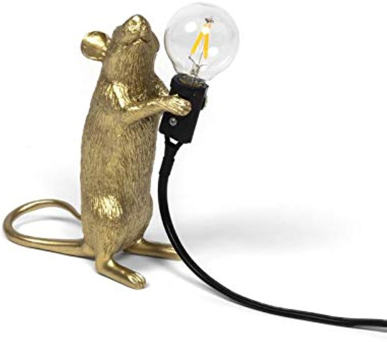 Maus Lamp Gold aus schwarzem Draht Step  von Seletti B07NVF958W | Haltbarkeit