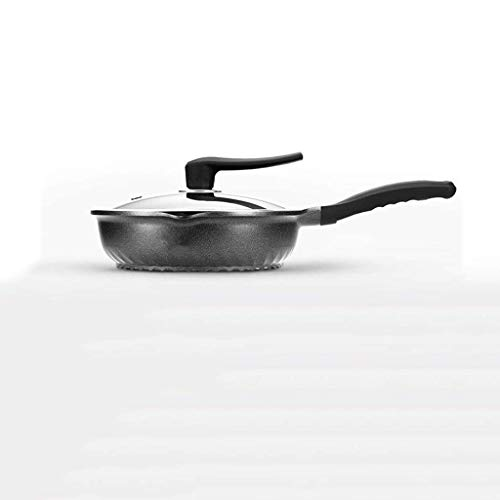 CJTMY Wok Antiadherente sartén Crepe Filete Pan Sin Humos de Cocina Utensilios de Cocina Uso de Gas Cocina de inducción (Size : 32CM)