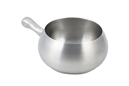 Bon Chef 5050SS Stainless Steel Induction Fondue Pot with Induction Bottom, 2-1/8 Quart Capacity, 6' Diameter x 4' Height