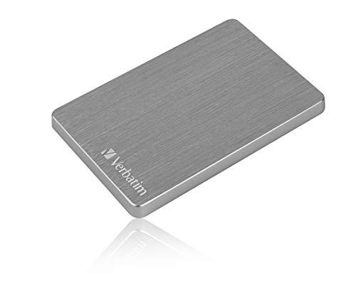 Verbatim Store 'n' Go ALU Slim I 1 TB I Space Grey I Hard disk esterno I USB 3.2 GEN 1 I Hard disk esterno in alluminio I per Windows & Mac OS X I Hard disk portatile I USB