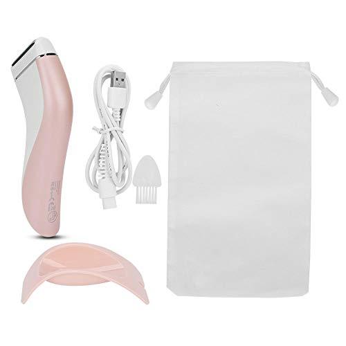 Usb mujeres impermeable cuerpo eléctrico, afeitadora eléctrica damas, máquina de depilación corporal con base, máquina de depilación para mujeres piernas axilas área genital área de bikini