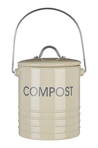 Premier Housewares 0510020 Bac à Compost avec Poignée Crème
