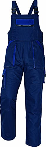 Stenso MAX - Pantalones con Peto de Trabajo para Hombre de algodón Azul Marino 46