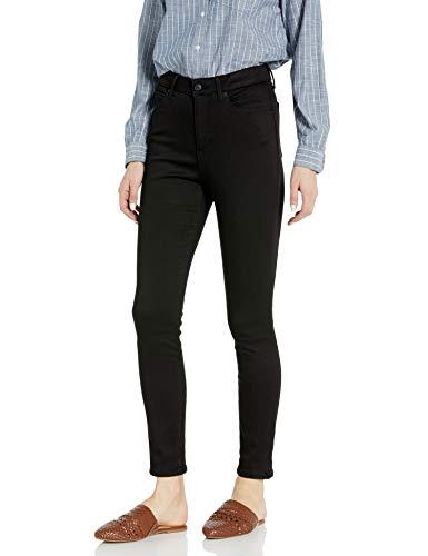 Amazon Brand - Goodthreads Women's Mid-Rise Skinny Jean, Black 24 Long