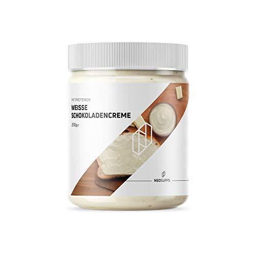 Weiße Protein Schokoladencreme 250g | Protein Aufstrich | gesunde Alternative | Vanille-Aroma | natürlicher Zucker | Topping Pancake | Proteine | Frühstück | unglaublicher Geschmack, Gewicht:250g