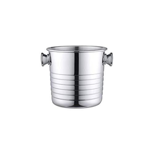 WZHZJ De Metal de Hielo Bucket- Ronda Bebidas de hidromasaje, de Metal Decorativo Bebida Cooler, House Party