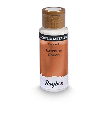 Rayher Hobby 35014660 Extreme Sheen Metallic-Farbe, bronze, Flasche 59 ml, Acrylfarbe metallic, patentierte Rezeptur