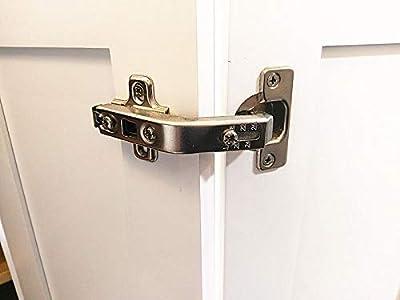 1 Piece Lazy Susan Hinge Face Frame Plate for Floded Door, Kitchen Cabinet Corner Door Hinges Metal Lasy Susan Cabinet Corner Hardware Cabinet Door Hinges Corner Cabinet Replacement 135 Degree open