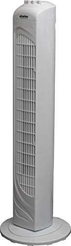 Schallen 29' Slim Modern Portable Oscillating Cooling Tower Fan with 3 Speed Settings & Timer - White
