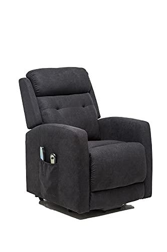 Sillón Relax y Masaje, Sillón Función Power Lift, Sillón reclinable con función Masaje Modelo Rondo SX AF80590S (Negro)