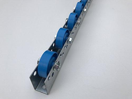 Rollenleiste Röllchenleiste Rollenschiene mit Kunststoffröllchen Ø 48 mm (T: 50mm, L: 1m)