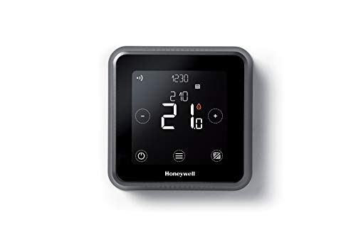 Honeywell Home T6 Thermostat intelligent WiFi, connecté à une application pour plus d'économies et d'efficacité. Compatible avec Apple HomeKit, Google Home, Amazon Alexa et IFTTT, noir (1 pièce)