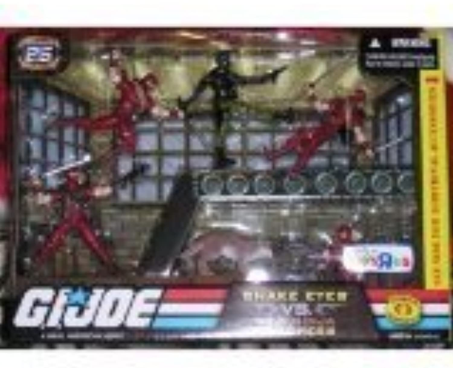 el más barato G.I. Joe Exclusive Acción Figura Troop Builders Set Snake Snake Snake Eyes Vs. rojo Ninja Troopers by G. I. Joe  contador genuino