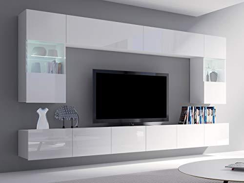 meble24shop Wohnwand Wohnzimmerschrank Schrankwand TV-Element Anbauwand Cube