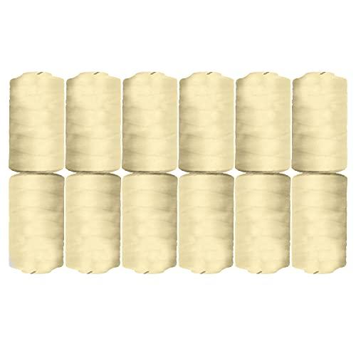EUROXANTY Hilo de Coser   Bobinas de hilo   100% Poliéster   Máquina de Coser   Para Hilvanar   Para Bordar   Hilo resistente   500m   Beige