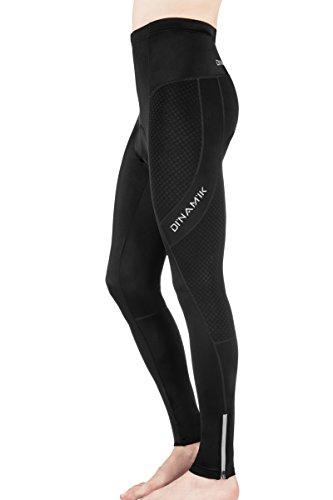 Dinamik Men's Long Bike Pants - Light, Ankle Length Gel Padded Leggings, Cycling