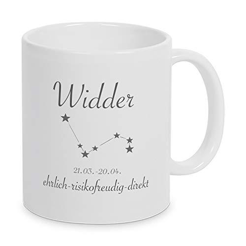 Sternzeichen Widder - Tasse - Kaffeetasse - Tasse mit Spruch