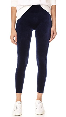 SPANX Women's Velvet Leggings, Lapis Night, X-Large