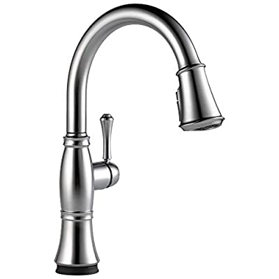 Delta Faucet Cassidy Single-Handle Touch Kitchen Sink Faucet with Pull Down Sprayer, Touch2O and ShieldSpray Technology, Magnetic Docking Spray Head, Lumicoat Arctic Stainless 9197T-AR-PR-DST