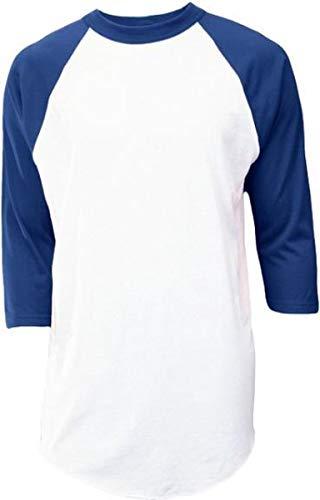 SOFFE Raglan Baseball Undershirt - White/Navy - Medium