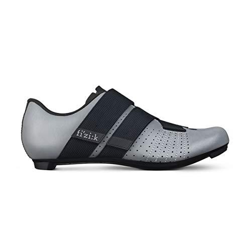 Fizik Tempo Powerstrap R5 Chaussures de Cyclisme Unisexe, Mixte Homme, Chaussure de Cyclisme, Gris Noir réfléchissant, 40.5 M EU