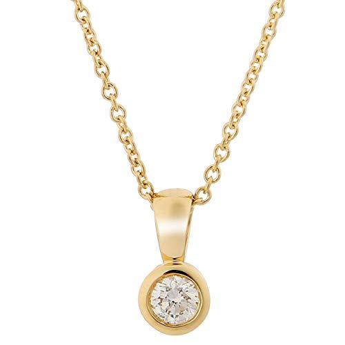 Orphelia Damen-Ketten mit Anhänger 18_k_(750) Gelbgold Diamant KD-2030/1
