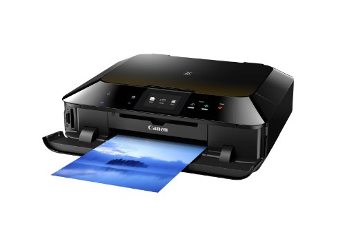 Canon Pixma MG6350 Tintenstrahl-Multifunktionsgerät (Kopierer, Scanner, Drucker, USB) schwarz/bernstein