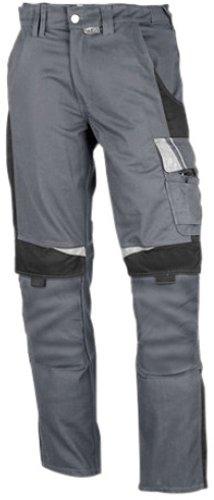 PKA Bundhose Bestwork, robuste Arbeitshose mit vielen Taschen(Grau/Schwarz, 52)