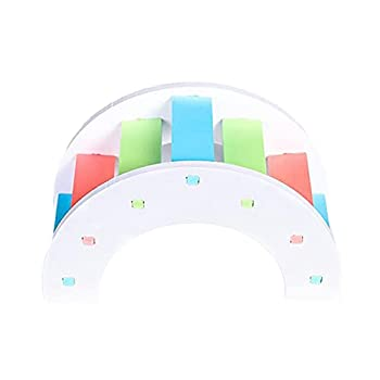 ZHANGJINYISHOP2016 Parrot Color Arch Bridge Entraînement interactif Toys pédagogiques Fournitures Jouer aux glissières d'escalade Loisirs
