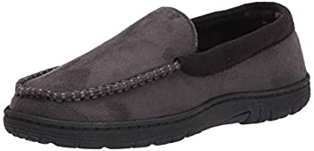 Hanes Men s Moccasin Slipper House Shoe With Indoor Outdoor Memory Foam Sole Fresh Iq Odor Protection Grey XX-Large