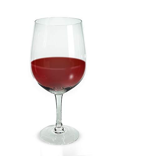 Monsterzeug Riesen Weinglas, gigantisches XXL Wein Glas 23 cm, überdimensionales Rotweinglas - 0,75 Liter Fassungsvermögen