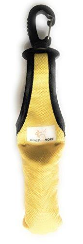 Dogs and More - Bringsel mit leichtem Wirbelkarabiner in Gelb (Verweiser-Dummy)
