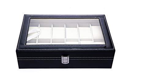 Caja para Guardar 12 Relojes de Hombre y Mujer. Estuche