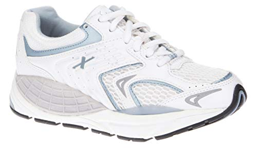 Xelero Matrix - Women's Motion Control Walking Shoe White/lt Blue Mesh - 8 Wide