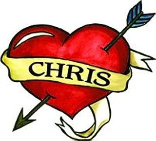 Chris Heart Temporary Tattoo