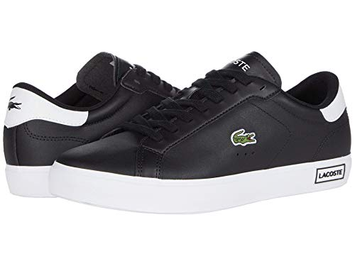Lacoste Women's POWERCOURT 0520 1 SFA Sneaker, Black/White 8.5 M US