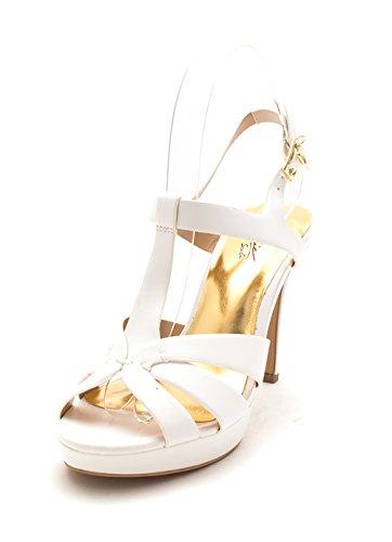 Thalia Sodi Womens Verrda Faux Leather Platform Sandals White 10 Medium (B,M)