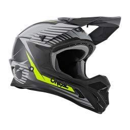 O'NEAL   Motocross-Helm   MX Enduro Motorrad   ABS-Schale, Sicherheitsnorm ECE 22.05, Lüftungsöffnungen für optimale Belüftung & Kühlung   1SRS Helmet Stream   Erwachsene   Grau Neon-Gelb   Größe XS