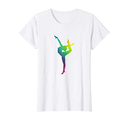 Turnen Farbenfrohe Turnerin Akrobatik Turner T-Shirt