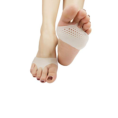 Metatarsal Pads, (6 PCS) Ball of Foot Cushion, New Material,Forefoot Pads, Breathable & Soft Gel, Great for Neuroma, Diabetic Feet, Callus, Blisters, Forefoot Pain, Metatarsal Pain.